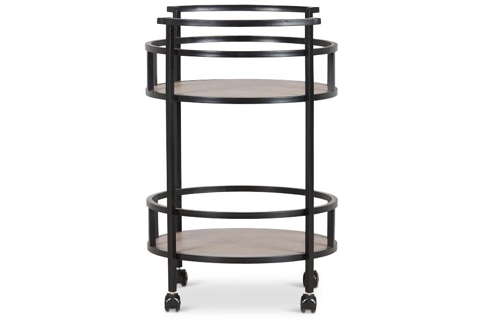 Hallie Round Metal Bar Cart