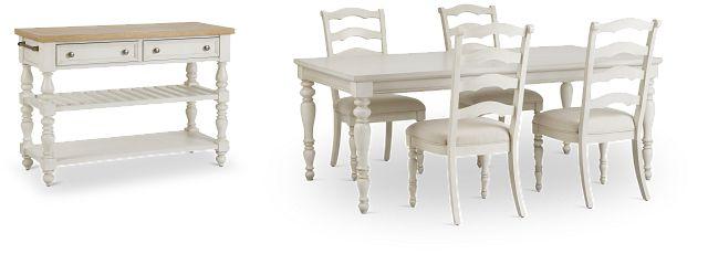 Savannah Ivory Rect Dining Room