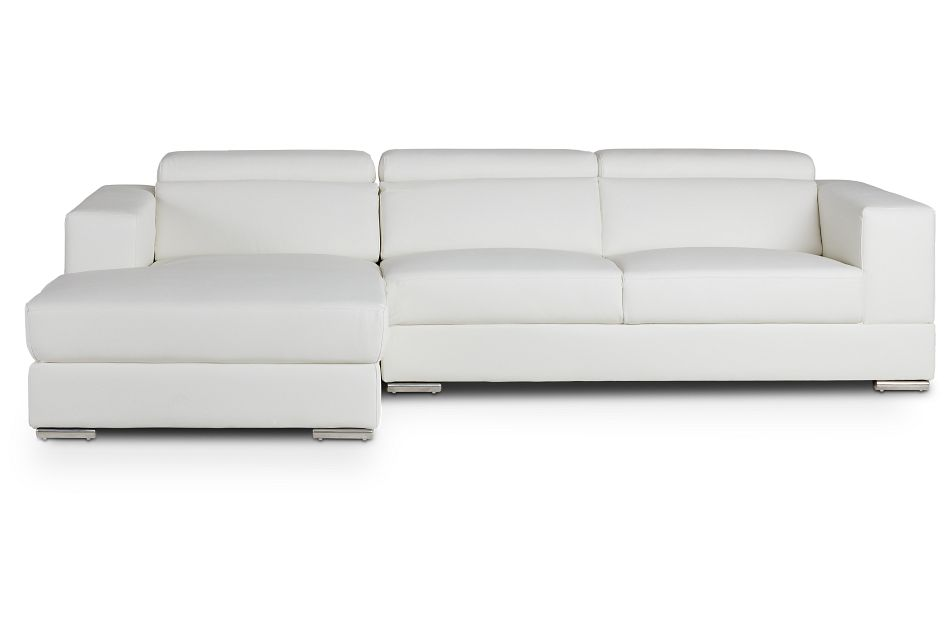 Maxwell White Micro Left Chaise Sectional