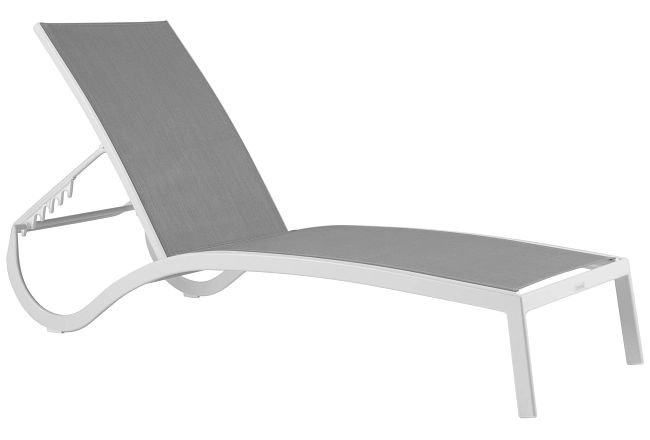 Lisbon2 Gray Sling Chaise
