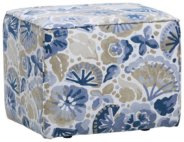 Waterflower Blue Accent Pouf (0)