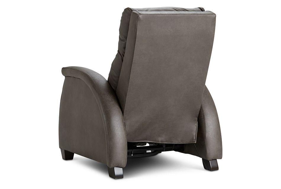 Smith Dark Gray Micro Zero Gravity Power Recliner W/heat & Massage