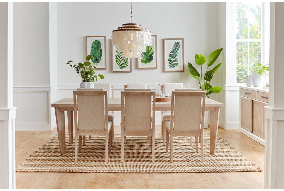 Boca Grande LIGHT TONE  Table & 4 Upholstered Chairs,  (3)