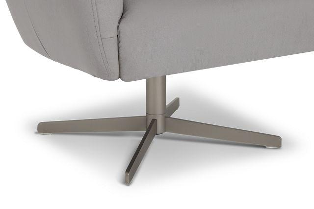 Wynn Light Gray Micro Swivel Accent Chair