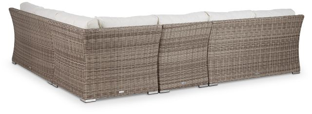 Raleigh White Woven Large Two-arm Sectional (3)