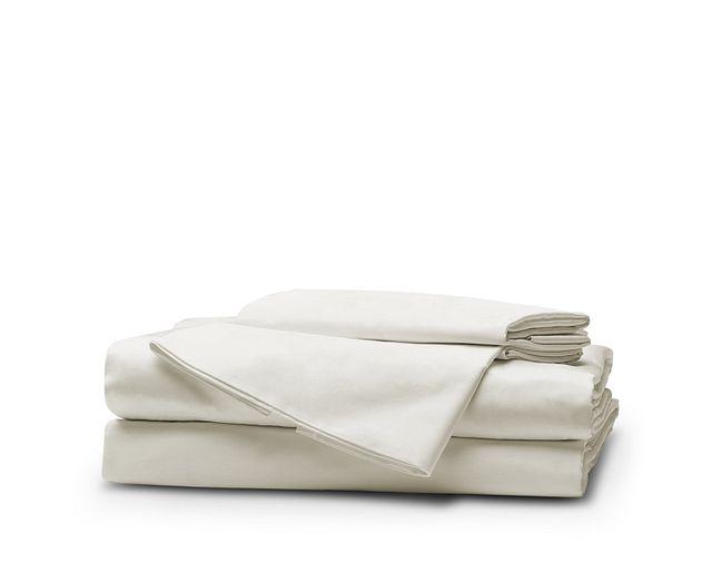 Egyptian Cotton White 400 Thread Sheet Set (1)