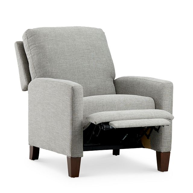 Griffin Pewter Fabric Push Back Recliner (2)