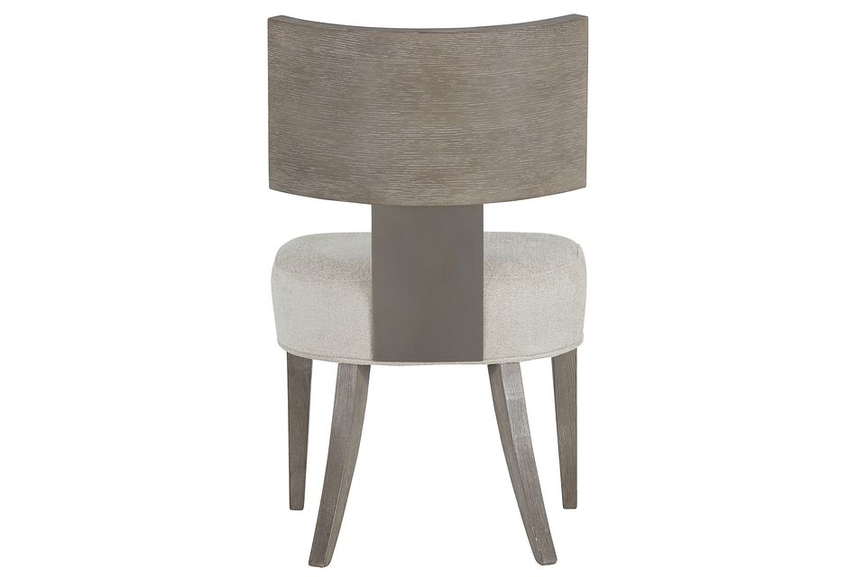 Mosaic Light Tone Curved Wood Side Chair,  (2)