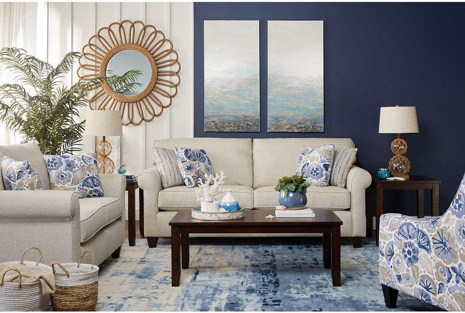 Seafoam Light Blue Canvas Wall Art