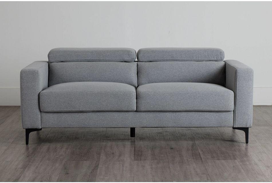 Trenton Light Gray Fabric Sofa,  (0)