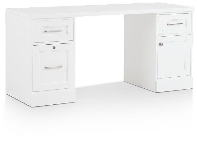 Newport White Writing Desk (2)