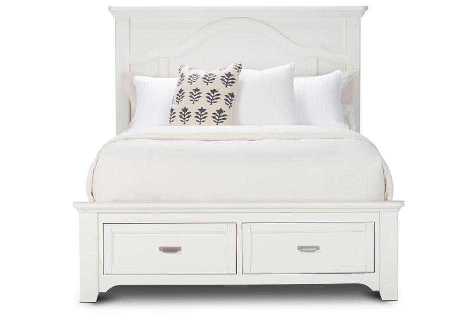 Bungalow Ivory Panel Storage Bed
