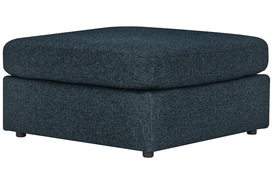 Noah Dark Blue  Fabric Cocktail Ottoman
