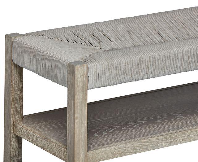 Zephyr Light Tone Woven Bench (2)