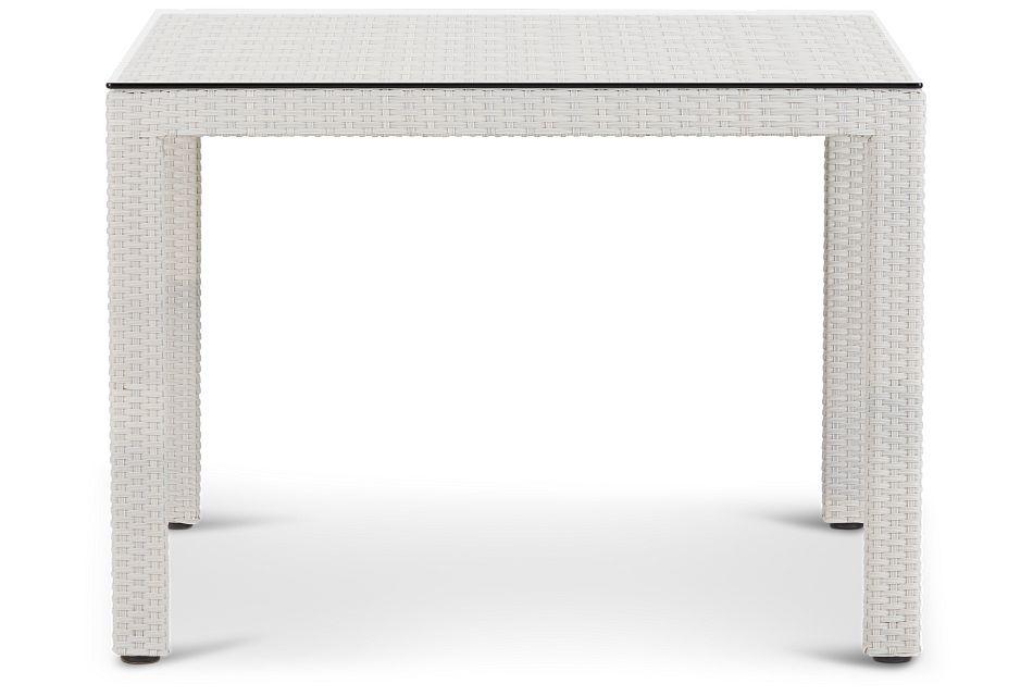 """Bahia White 40"""" Square Table"""