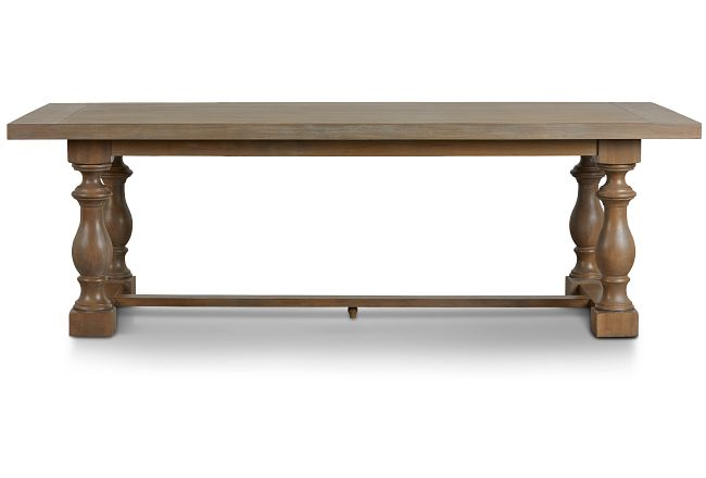 Haddie Light Tone Trestle Table
