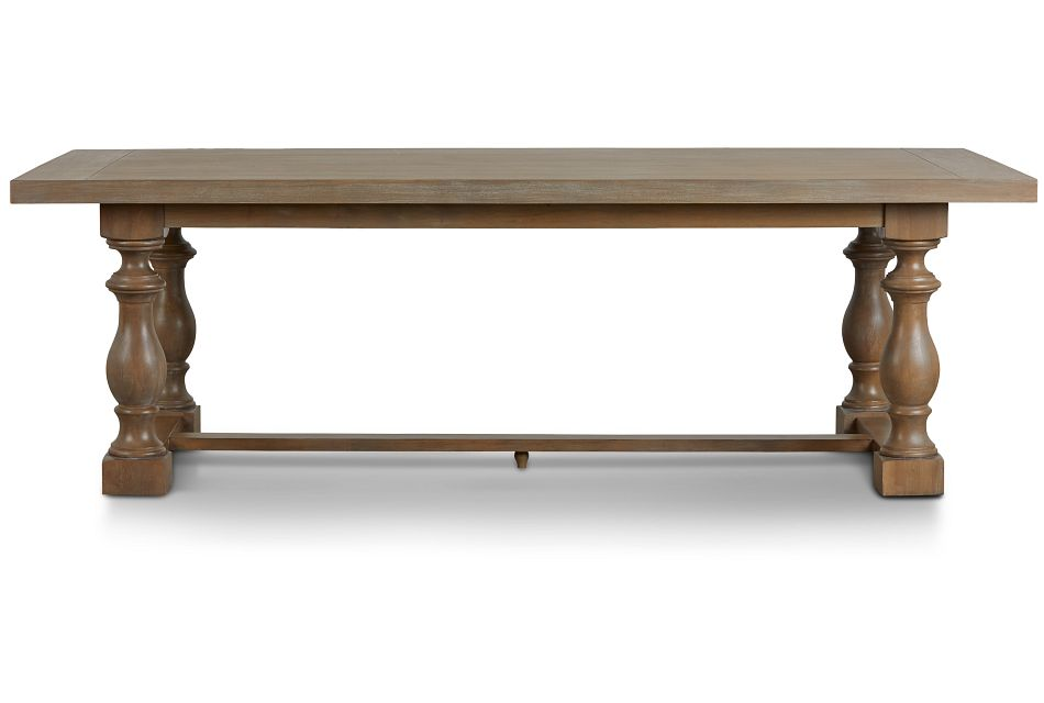 Haddie Light Tone Trestle Table