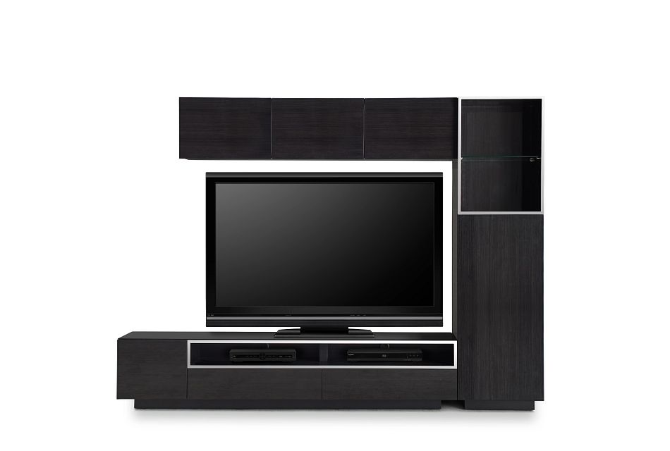 "Vancouver Dark Tone 108"" 5-piece Right Modular Entertainment Wall"