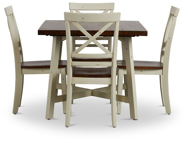 Amelia Two-tone Rect Table & 4 Chairs (2)