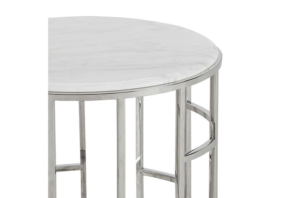 Koda Marble Round End Table