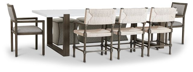 Hadleigh Two-tone Rectangular Table And Mixed Chairs