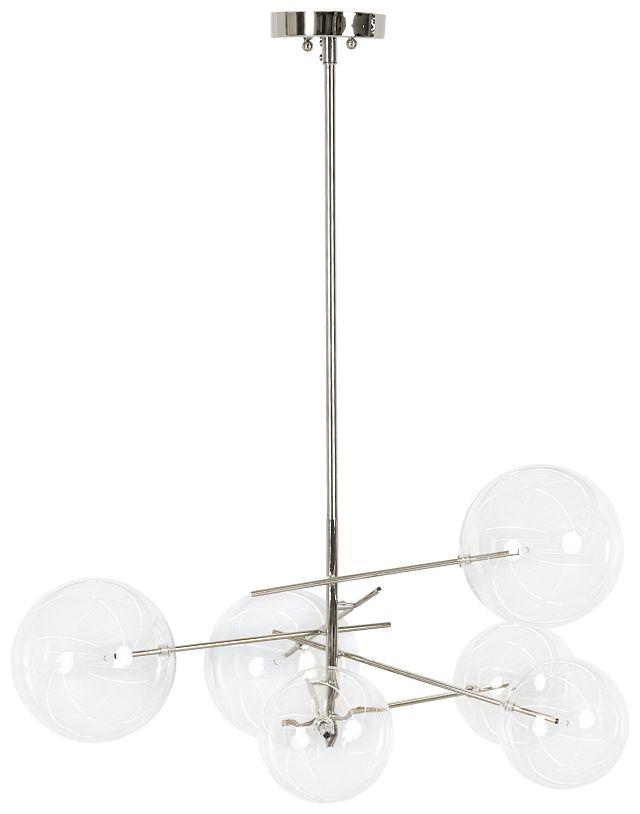 Kai Chrome Glass Chandelier (0)