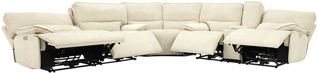 Jesse Light Beige Micro Two-arm Power Reclining Sectional (0)