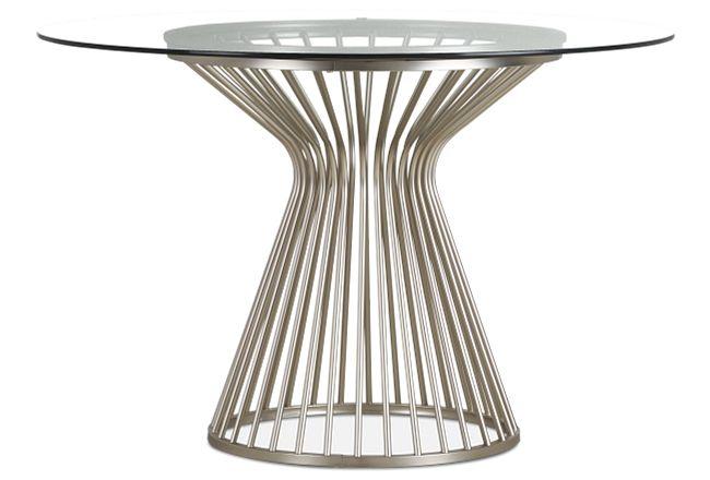 Munich Silver Glass Round Table