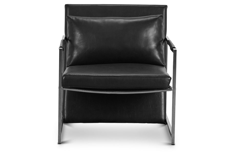 Russell Black Uph Accent Chair