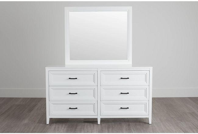 Nantucket White Dresser & Mirror