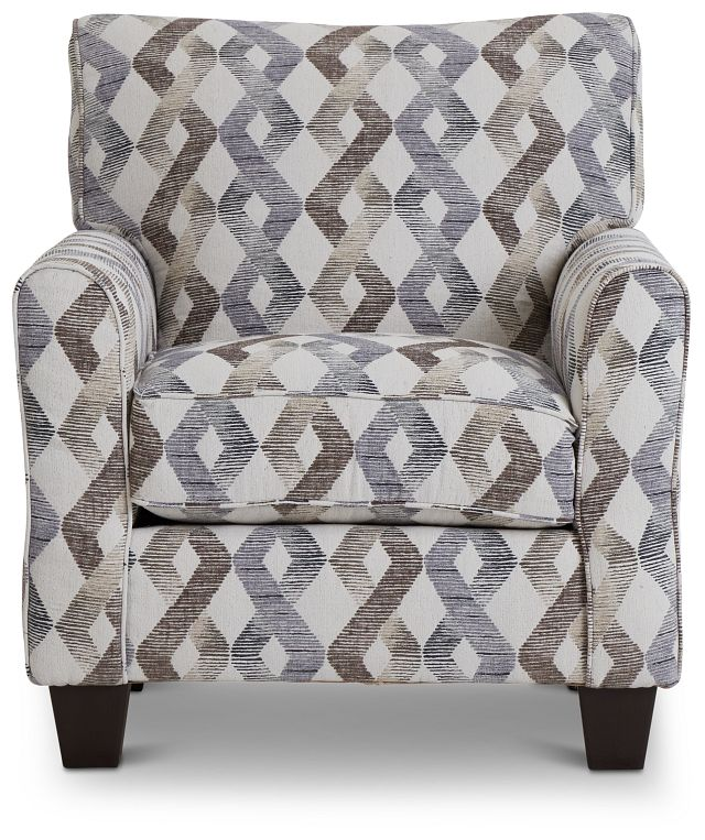 Myra Multicolored Fabric Accent Chair (3)
