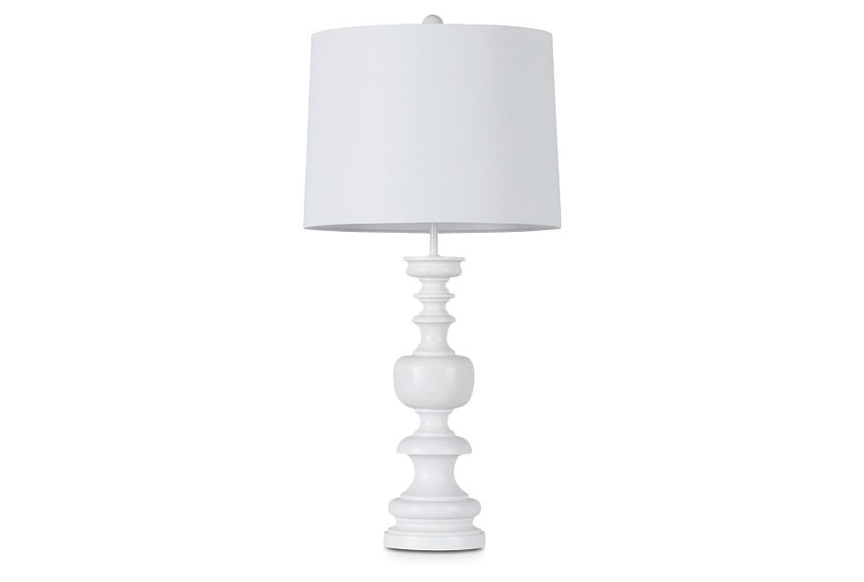 Vivia White Table Lamp