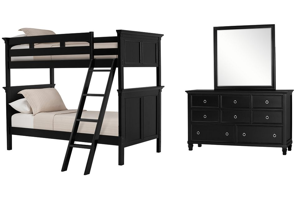 Tamara Black Bunk Bed Bedroom