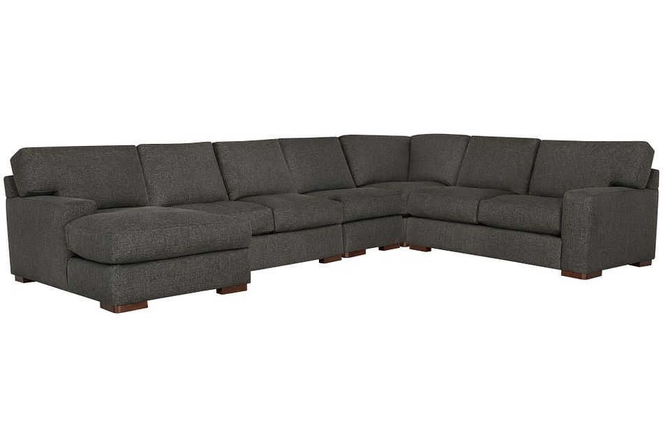 Veronica Dark Brown Down Large Left Chaise Sectional