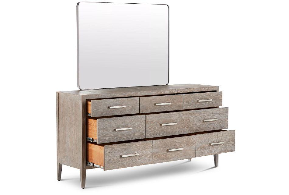 Berlin Light Tone Dresser & Mirror