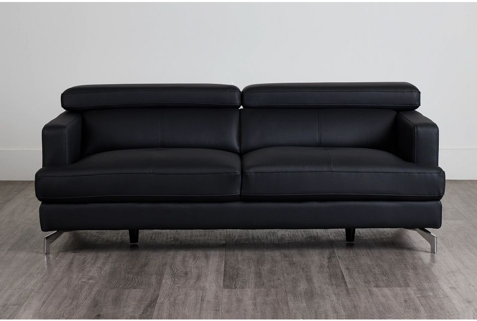Marquez Black Micro Sofa,  (0)