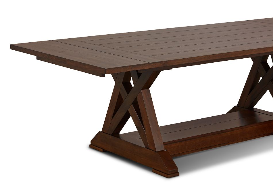 Bloomington Dark Tone Rect Trestle Table