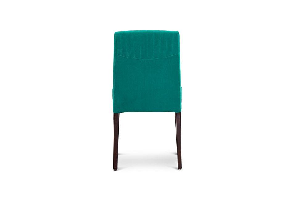 Fraser Teal Velvet Upholstered Side Chair