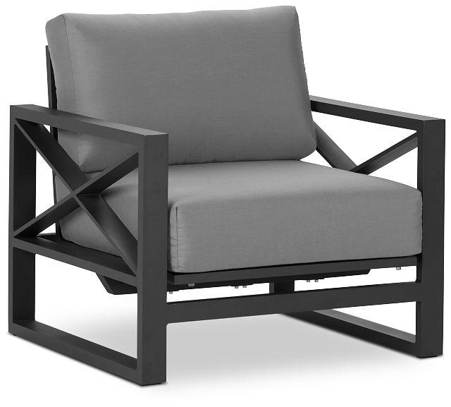 Linear Dark Gray Rocking Chair (1)