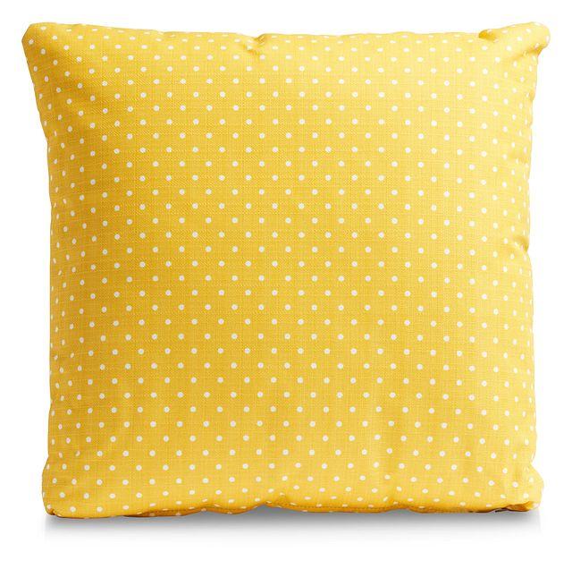 "Dots Yellow 20"" Indoor/outdoor Accent Pillow (0)"