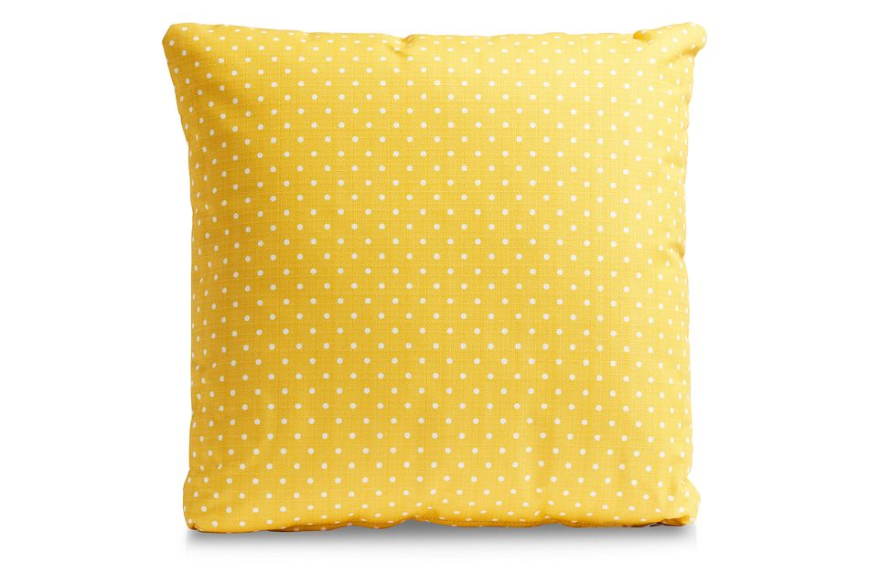 "Dots Yellow 20"" Indoor/outdoor Accent Pillow"