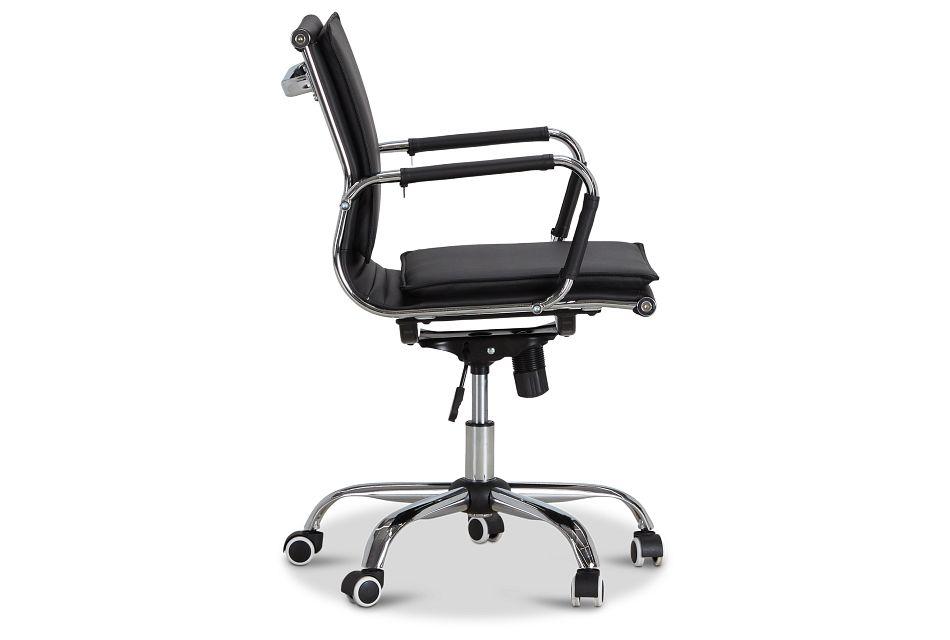 Denver Black Uph Desk Chair, %%bed_Size%% (2)