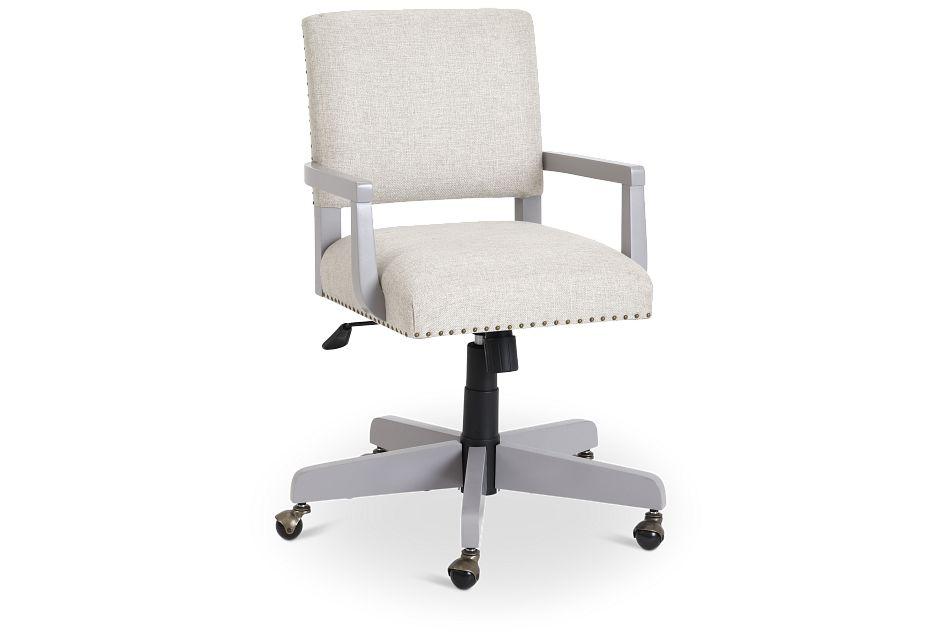 Newport Gray Wood Upholstered Desk Chair