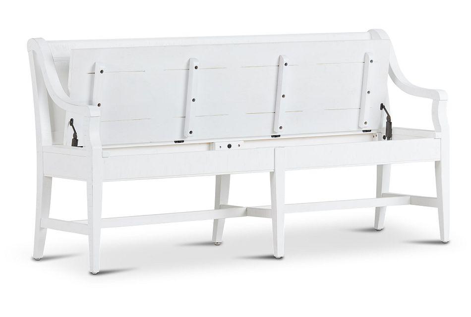 Heron Cove White Storage Dining Bench