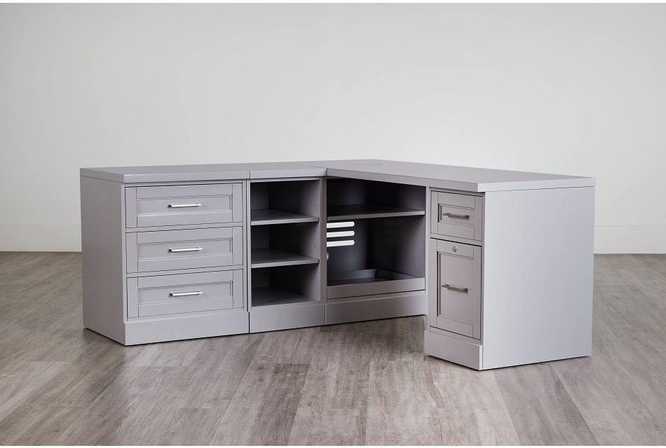 Newport Gray L Desk,  (0)