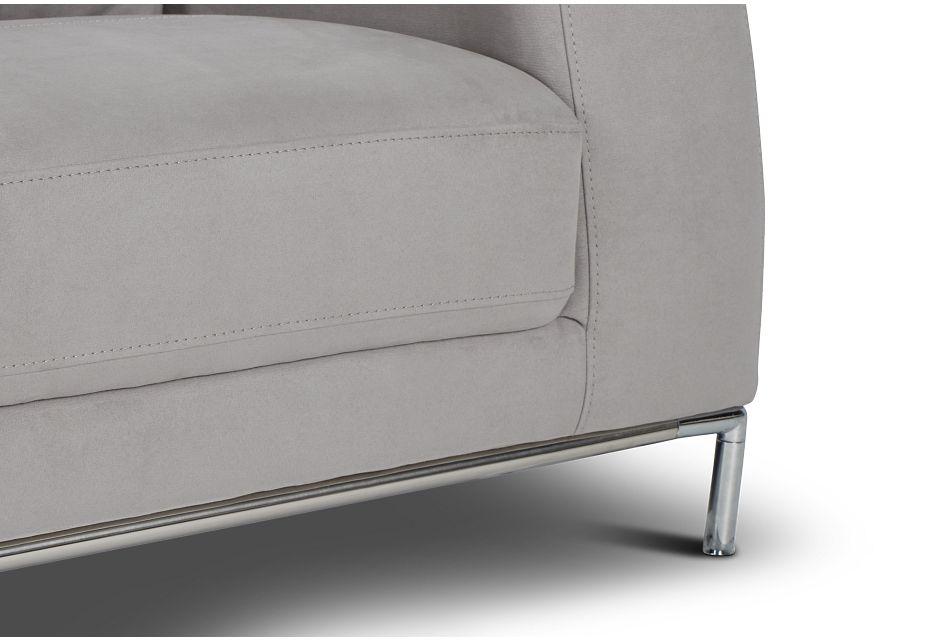 Wynn Light Gray Micro Sofa,  (1)