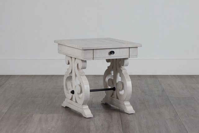 Sonoma Ivory Storage End Table