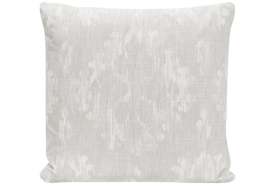 Bandula Light Gray Fabric Square Accent Pillow
