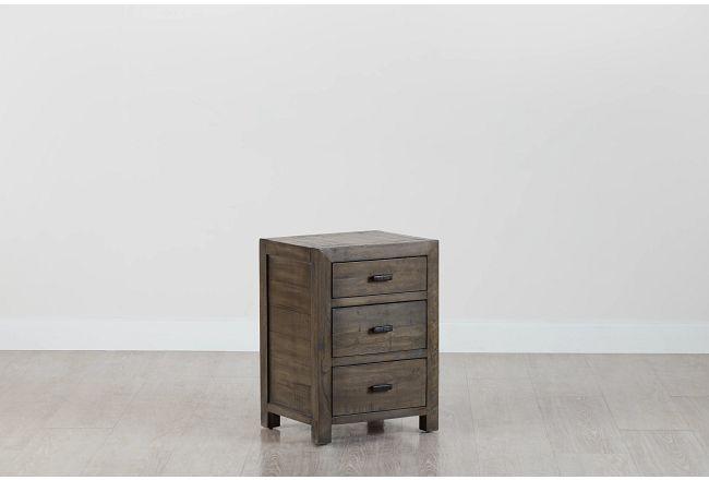 Seattle Gray 3-drawer Nightstand