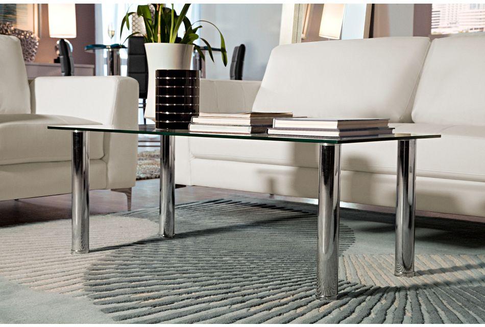 Napoli GLASS SILVER Rectangular Coffee Table